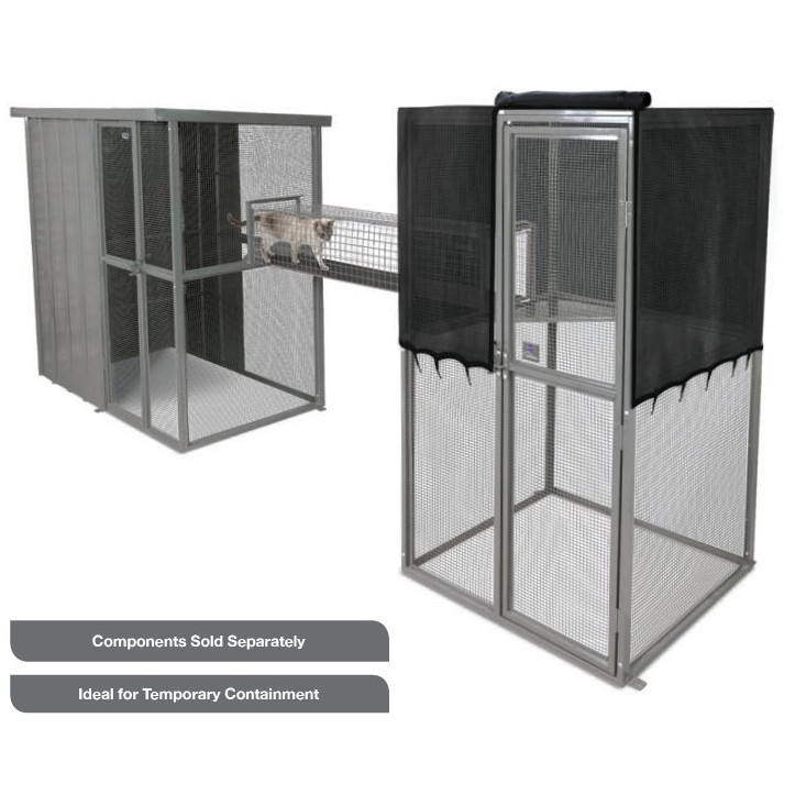 Outdoor Metal Cat Enclosure - The Parrot Place