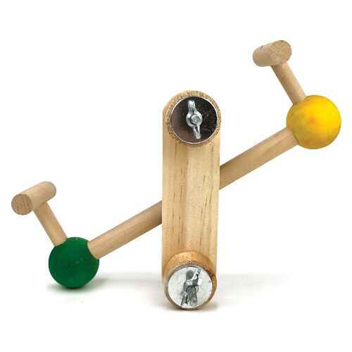 Wooden Seesaw Cage Mounted Medium Birds