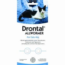 Drontal Allwormer for cats 2 pack 4kg