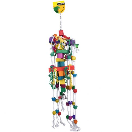 Avi One Parrot Toy Jumbo Blocks Beads and Bell