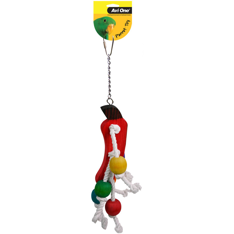 Avi One Parrot Toy Rope Vegies Beads