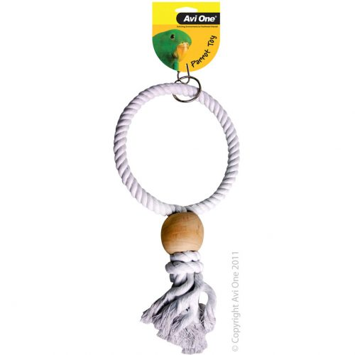 Avi One Parrot Toy Natural Swing