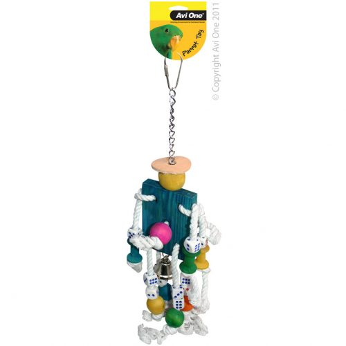 Avi One Parrot Toy Robot Dice Bell