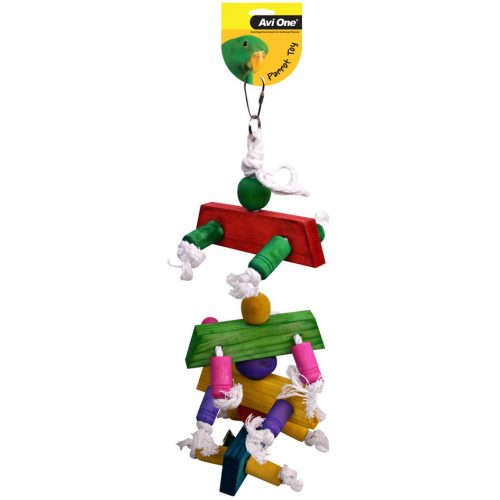 Avi One Parrot Toy Rope and Cyclone Bell
