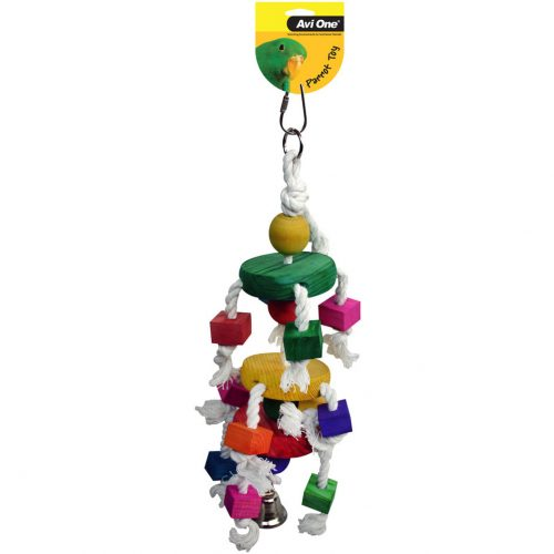 Avi One Parrot Toy Dancing Block and Bell