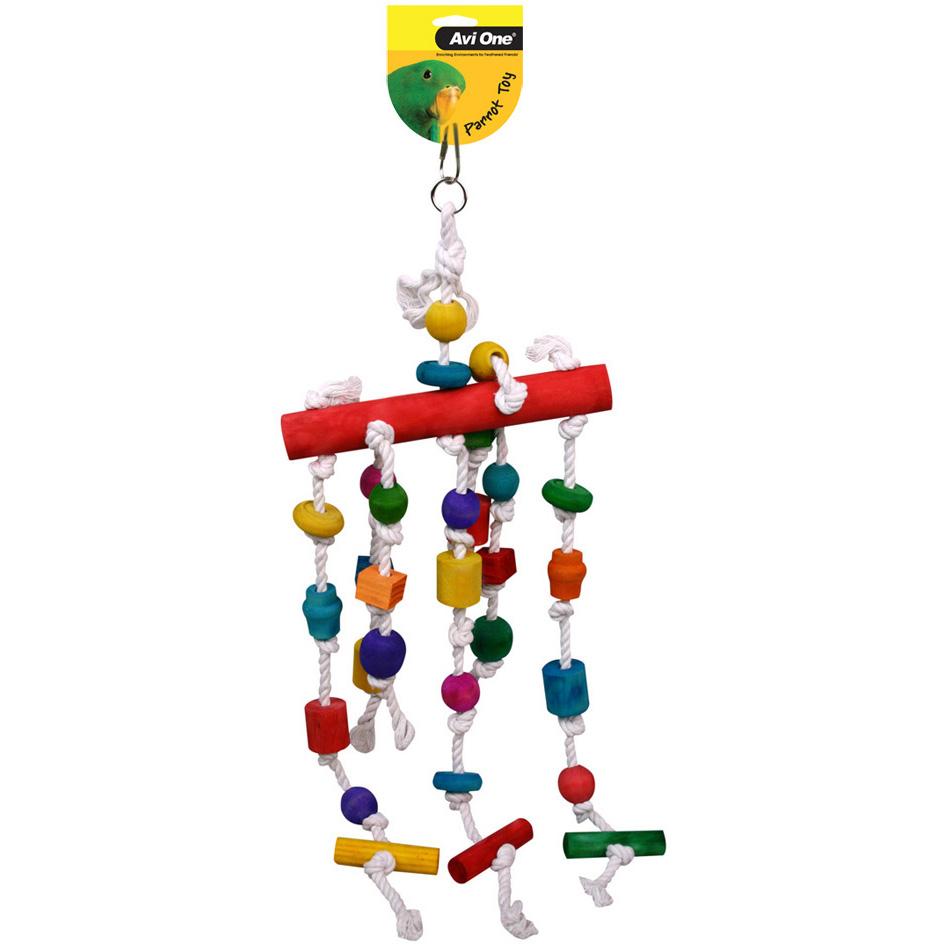 Avi One Parrot Toy Perch and Beads