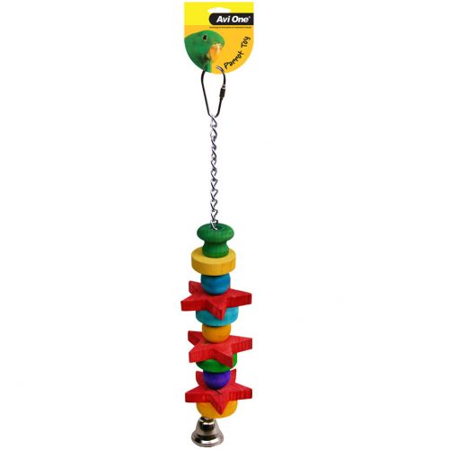 Avi One Parrot Toy Chain Star Beads and Bell