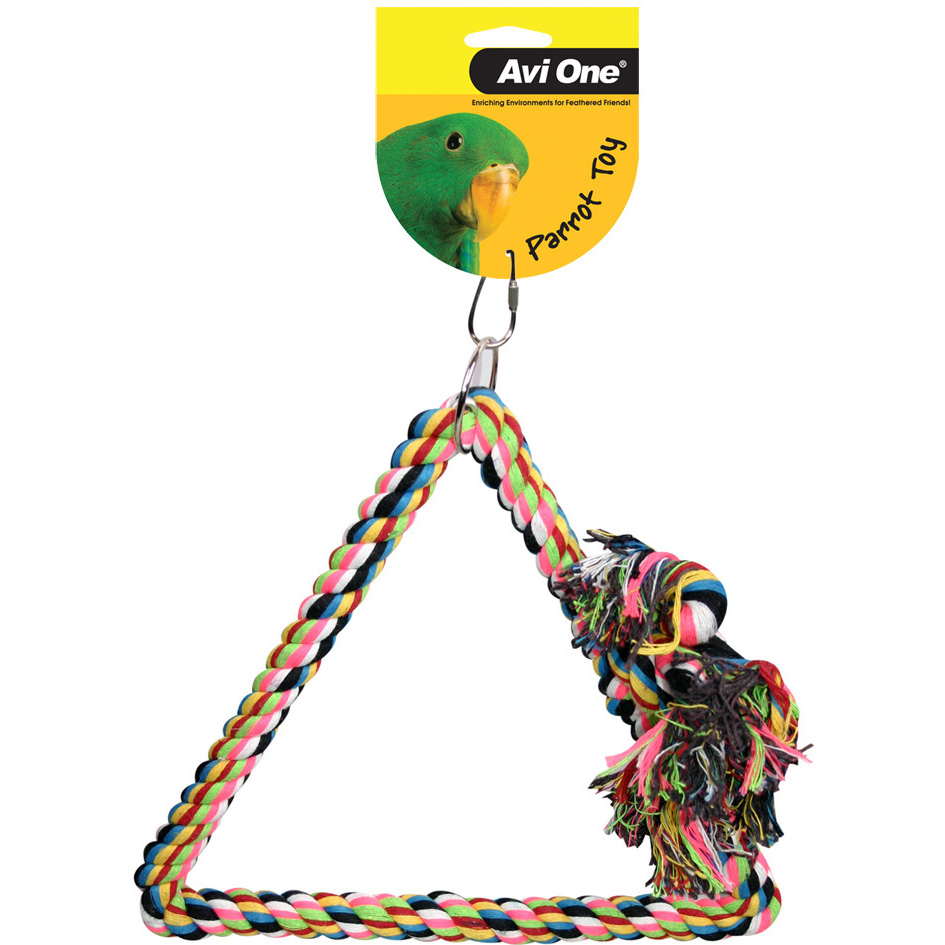 Avi One Parrot Toy Tri Angle Rope