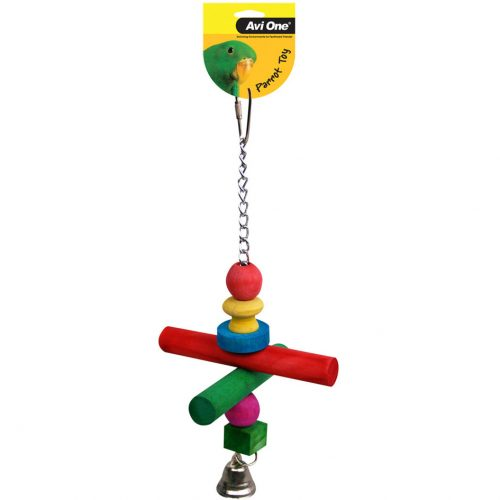 Avi One Parrot Toy Chain Beads Perch and Bell