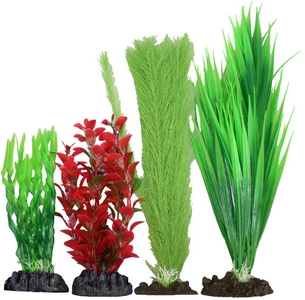 Plastic Plant 4 pack Mix 2