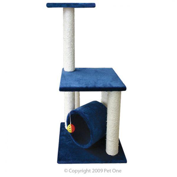 Scratching Tree W/roll 40x35x85cm (Blue)