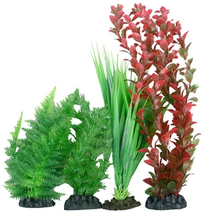 Plastic Plant 4 pack mix 1